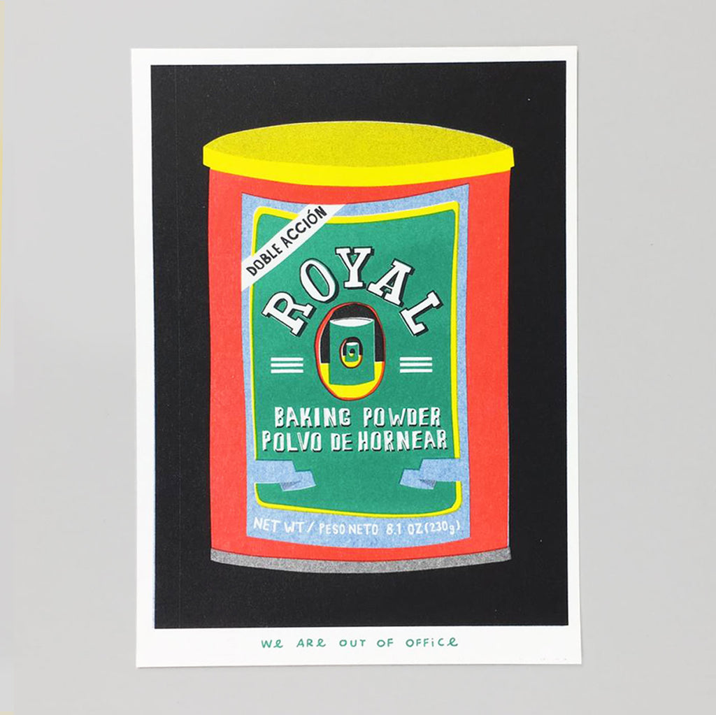 Royal Baking Soda Riso Print - We Are Out Of Office
