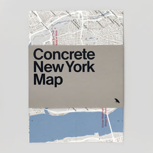 Concrete New York Map - Blue Crow
