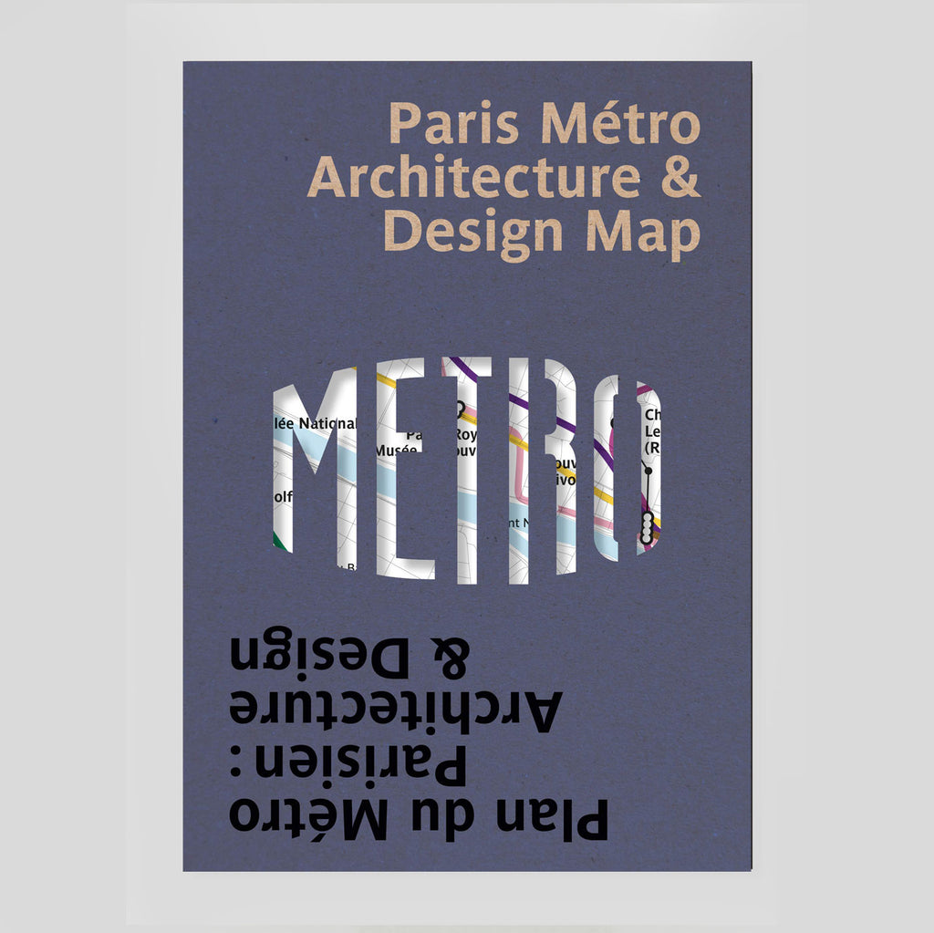 Paris Metro Architecture & Design Map - Colours May Vary