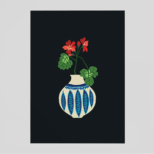 Brie Harrison - Geranium Vase Card - Colours May Vary