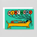 Alice Bowsher for Wrap | Birthday Sausage Dog
