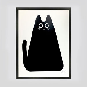 Black Cat Screenprint by Elliot Kruszynski