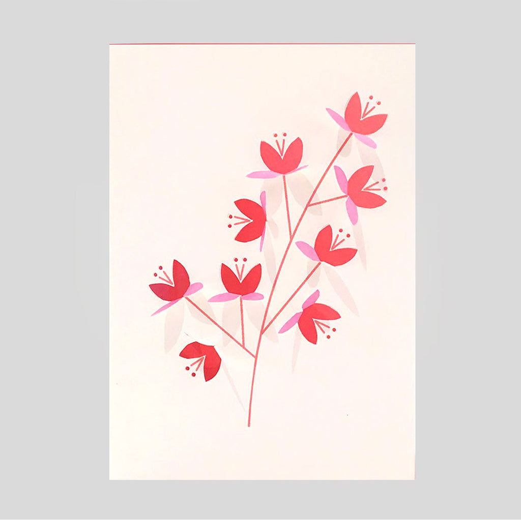 Cut & Make Fold-Out Cherry Blossom Card