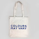 Colours May Vary Tote Bag - CMV Blue on grey marl