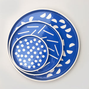 Sunken Studios Medium dish- Dash Blue