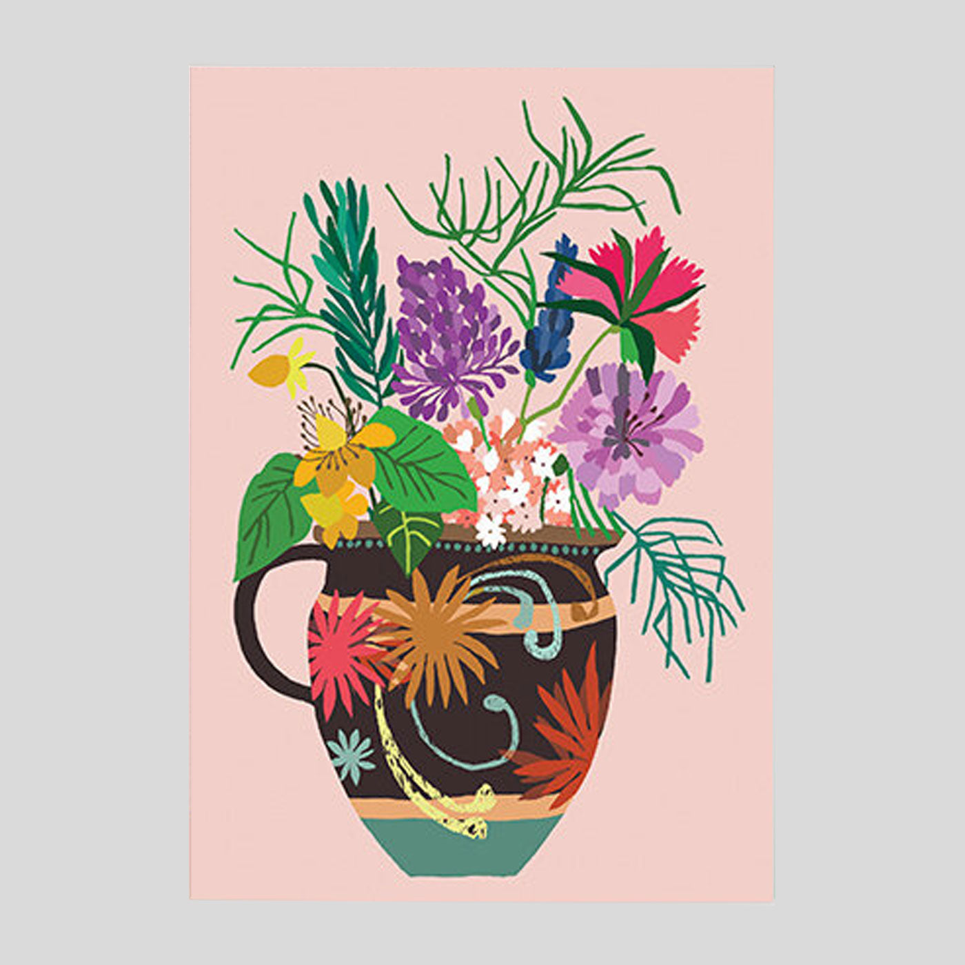 Brie Harrison - Gardener's Vase Card - Colours May Vary