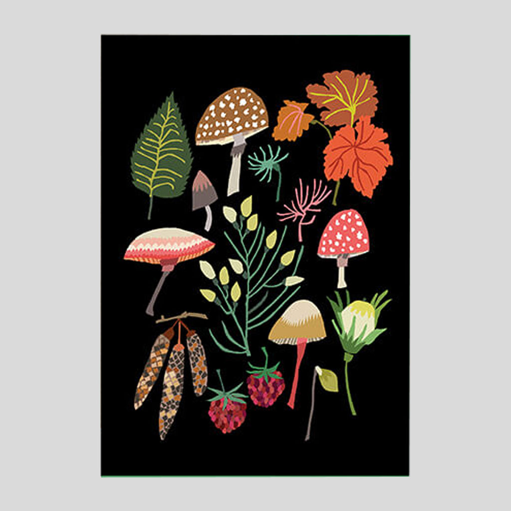 Brie Harrison - Mushroom and Moss Card - Colours May Vary