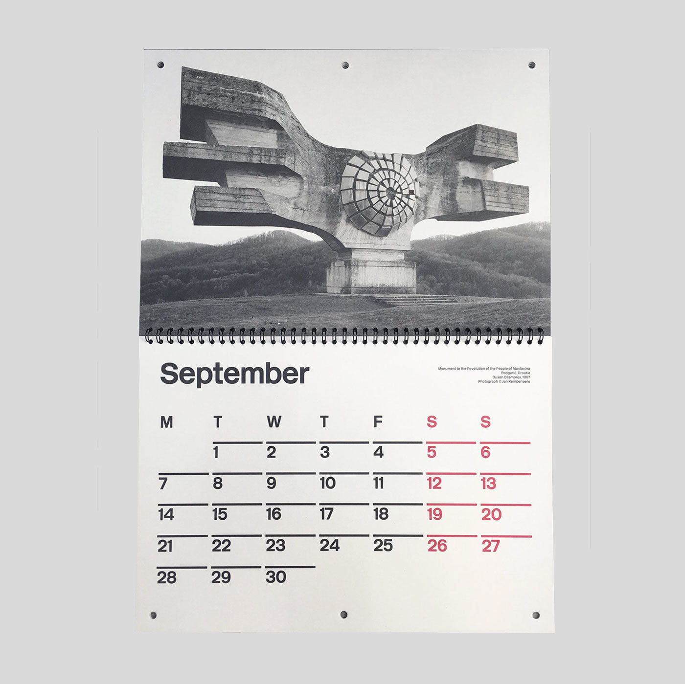 Brutalist Calendar 2020 by Blue Crow Media - Colours May Vary