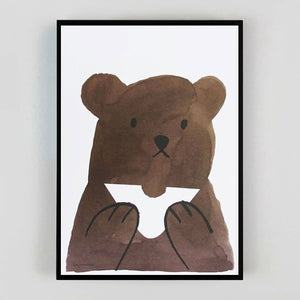 Lisa Jones 'Butty Bear' Riso Print