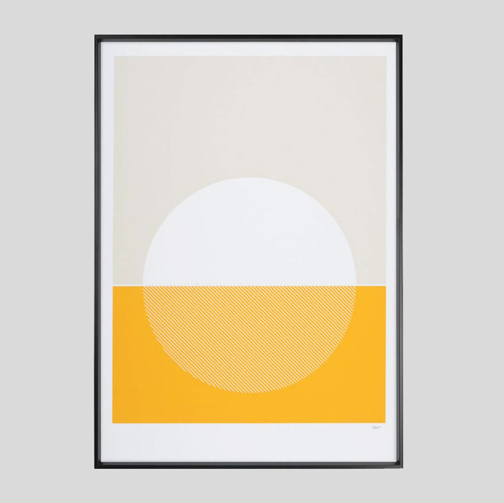Cellardyke Yellow Screenprint - Tom Pigeon - Colours May Vary