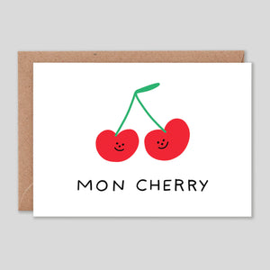Holly St Clair For Wrap | 'Mon Cherry' Card | Colours May Vary