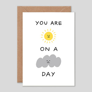 Holly St Clair For Wrap | 'Sunshine On A Cloudy Day' Card | Colours May Vary