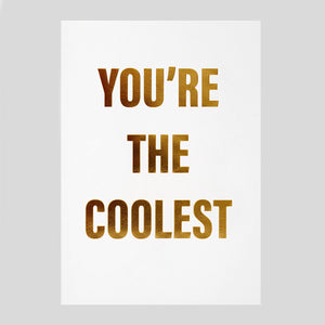 Postco for Lagom - You're The Coolest card