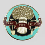 Clay Pipe Enamel Wheatsheaf badge - Colours May Vary