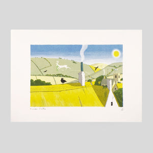 Stagdale View Risograph print - Frances Castle - Clay Pipe Music - Colours May Vary