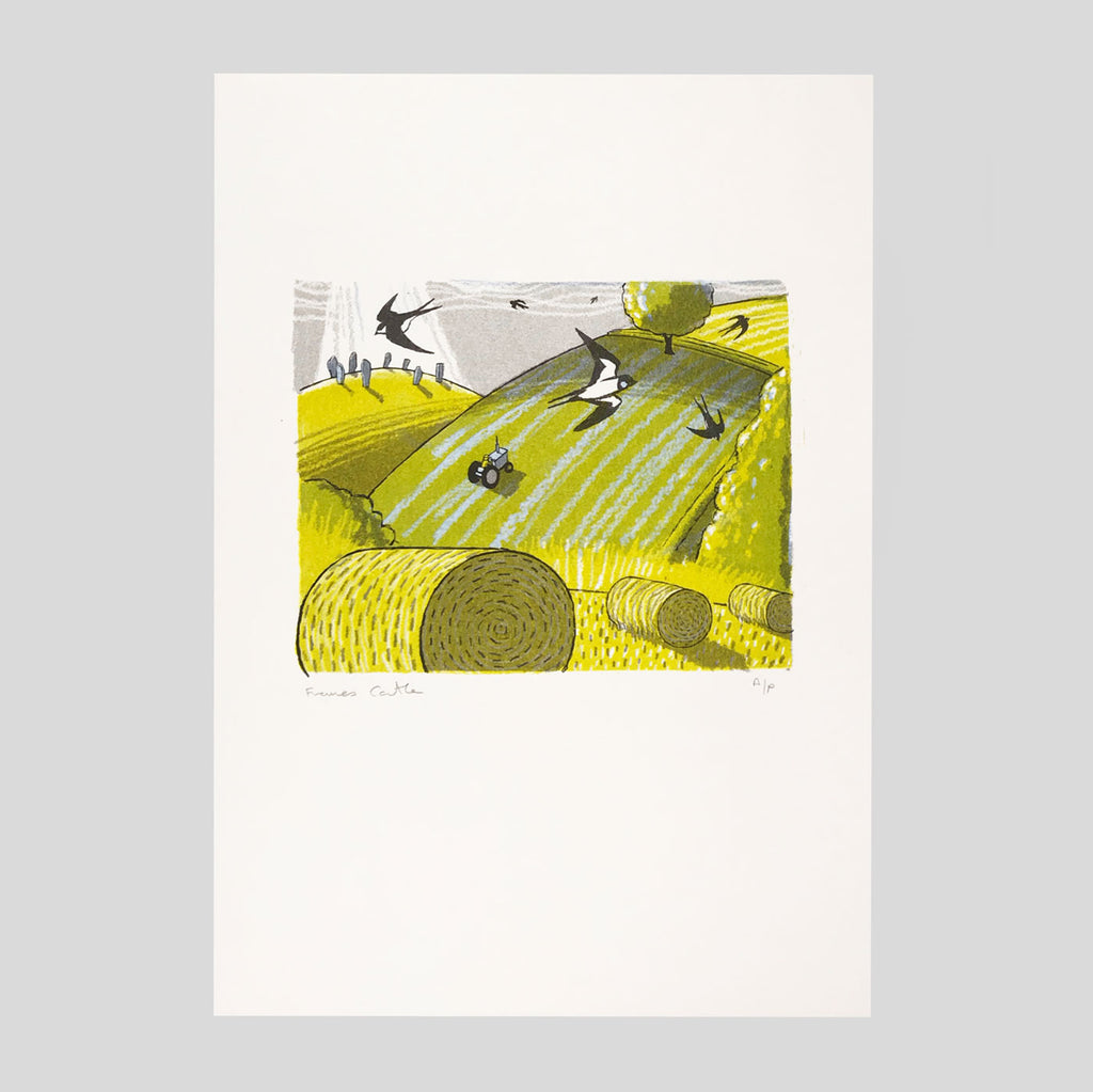 Tyneham House Risograph print - Frances Castle - Clay Pipe Music - Colours May Vary