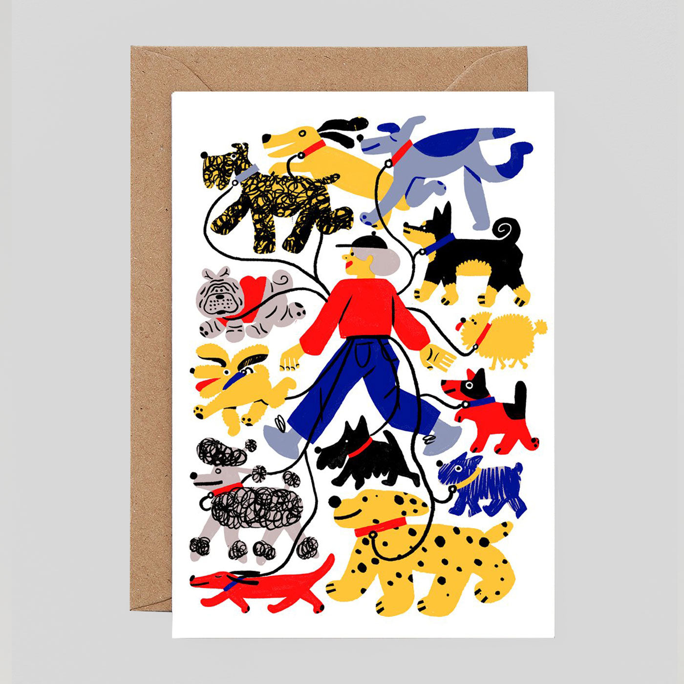 Cari Vander Yacht For Wrap - 'Dog Walker' Card - Colours May Vary
