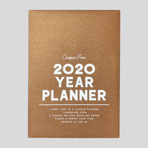 Crispin Finn Wall Planner 2020 - Colours May Vary