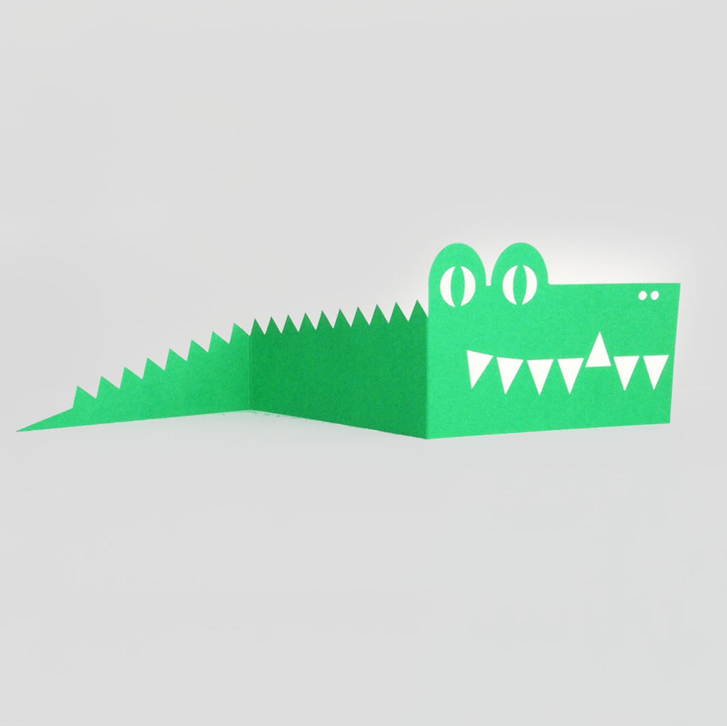 Cut & Make Fold-Out Crocodile Card