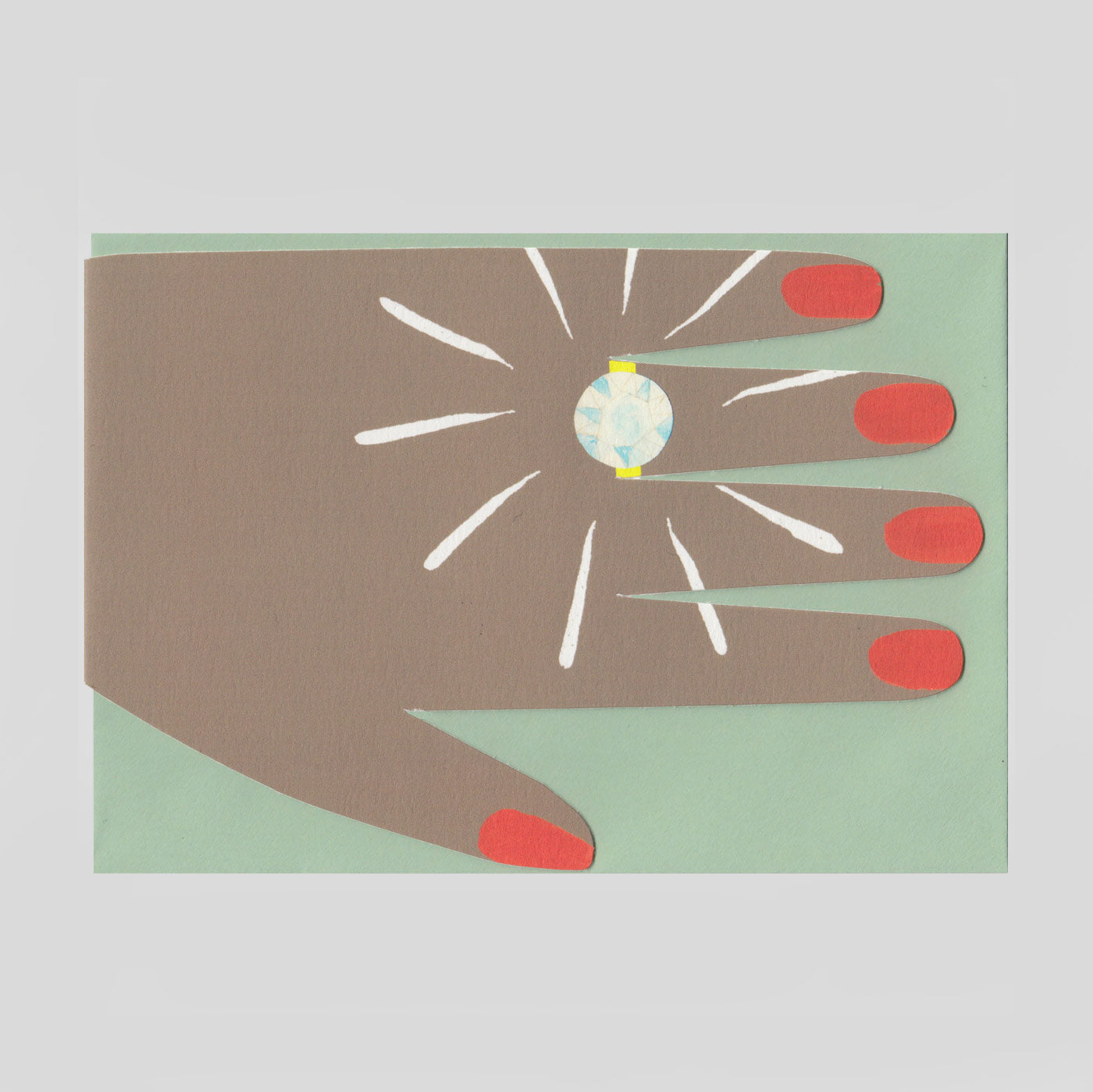 Hadley Paper Goods - Diamond Ring Card