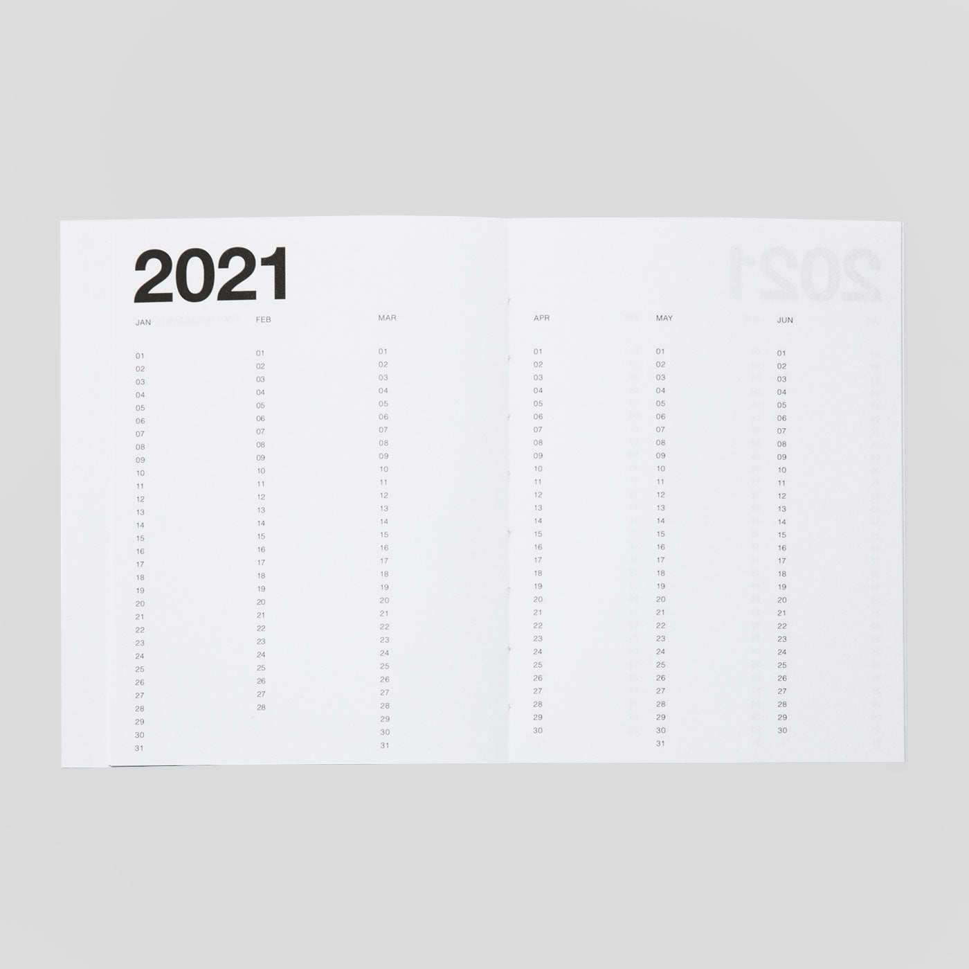 Marjolein Delhaas Basic Planner 2021 | Mono | Colours May Vary