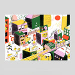 'Egg City' Riso Print by Helena Covell - Colours May Vary