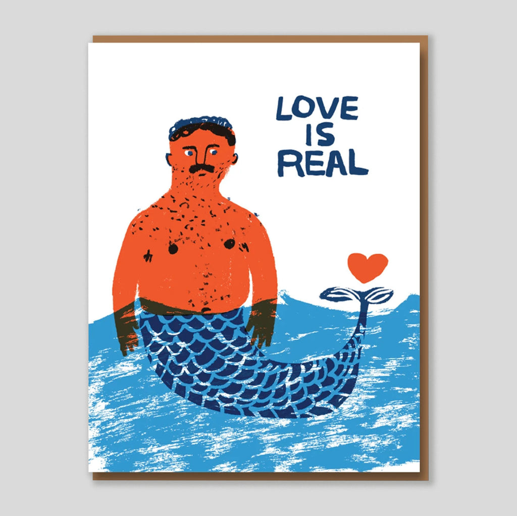 Egg press | 'Love is Real' Card