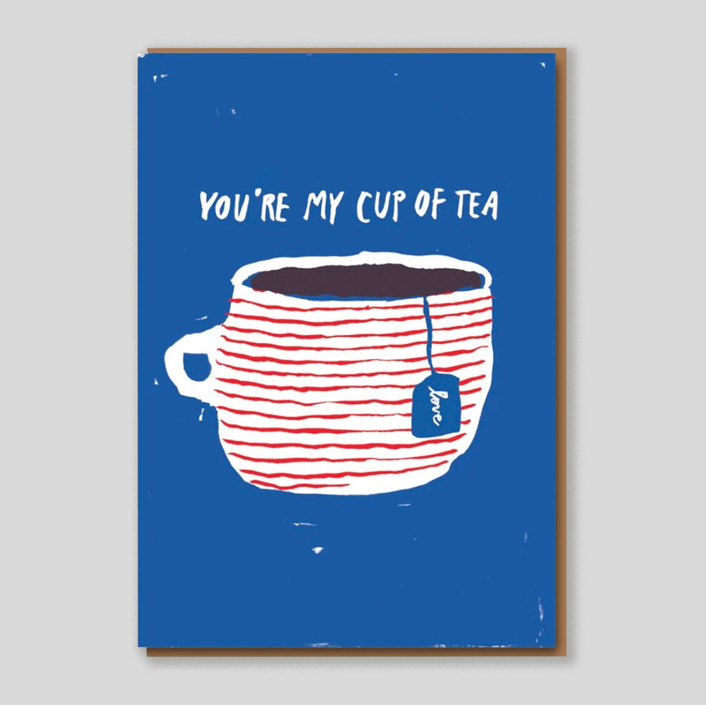 Egg press | 'Cup Of Tea' Mini Card | Colours May Vary