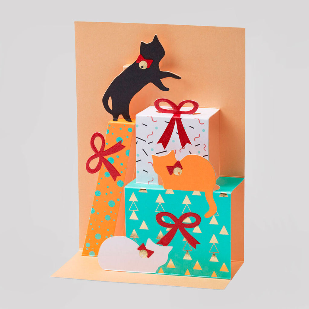 MoMA Pop-Up Holiday Card | Feline Gift Tower