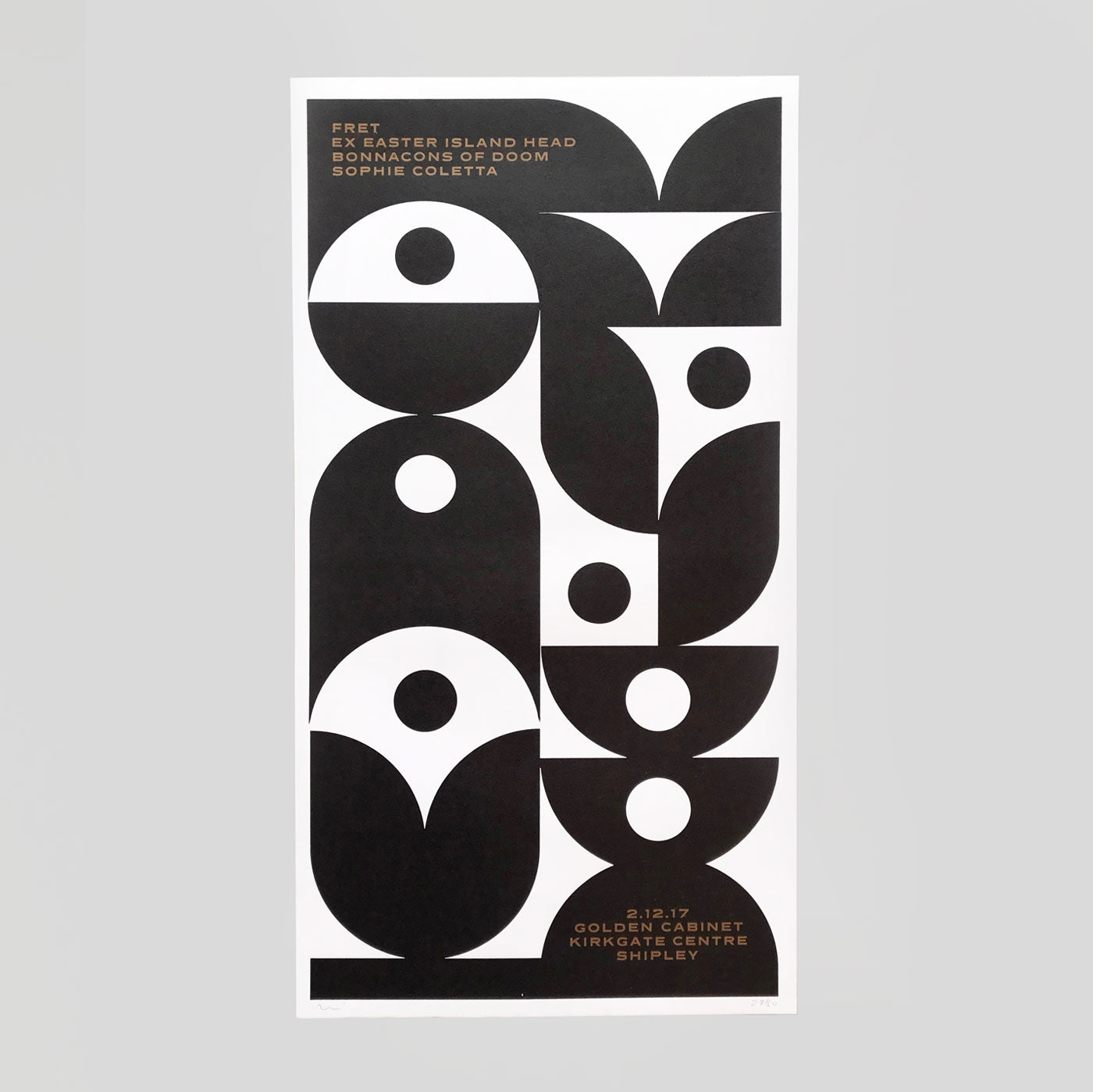 Fret Letterpress Print by The Print Project for Golden Cabinet - Colours May Vary
