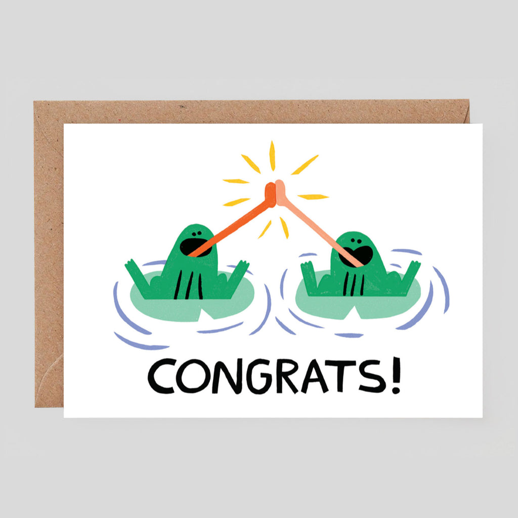 Cari Vander Yacht For Wrap - 'Congrats Frogs' Card crd454 - Colours May Vary