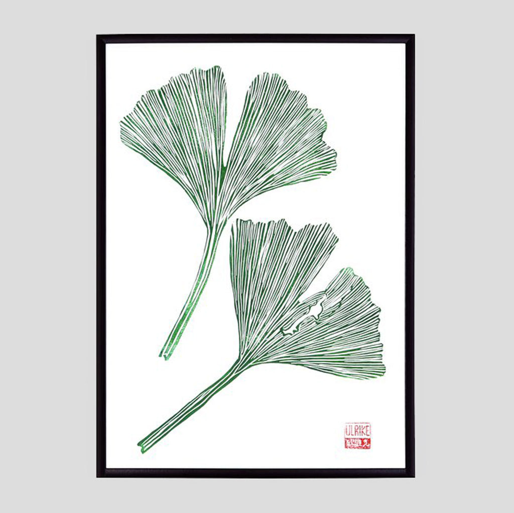 Ginko Lino Print (A3) by Ulrike Rost / StudioWald. - Colours May Vary