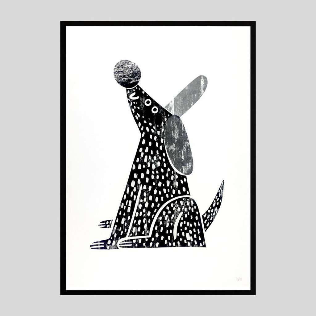 Hattie Clark - Happy Dog Riso Print
