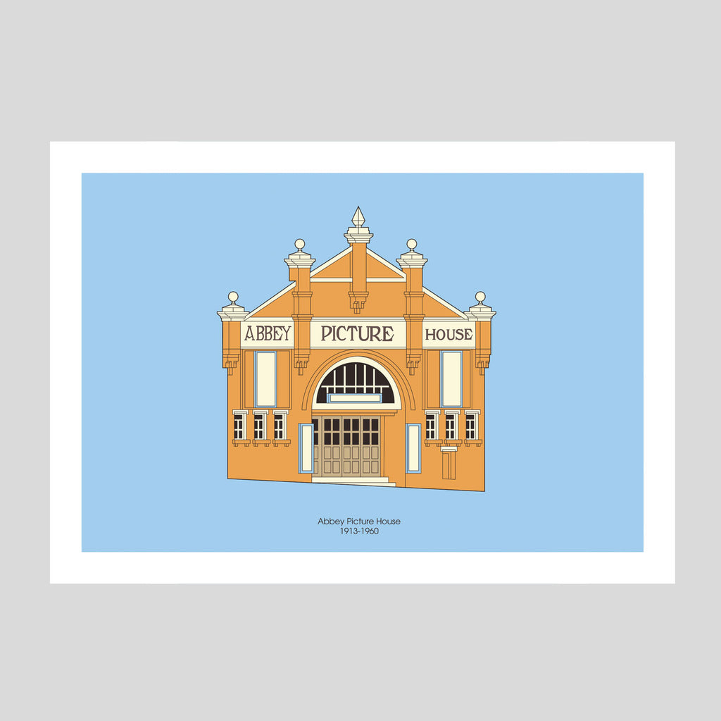 Abbey Picture House A3 Print | Adam Allsuch Boardman | Colours May Vary