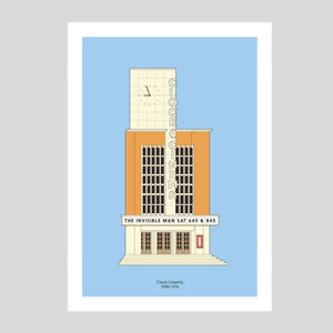 Clock Cinema A3 Print | Adam Allsuch Boardman | Colours May Vary
