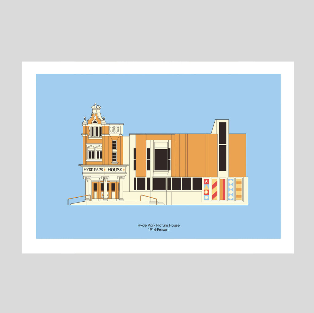 Hyde Park Picture House A3 Print | Adam Allsuch Boardman | Colours May Vary