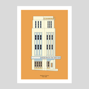Kingsway Cinema A3 Print | Adam Allsuch Boardman | Colours May Vary