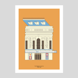 Majestic cinema A3 Print | Adam Allsuch Boardman | Colours May Vary