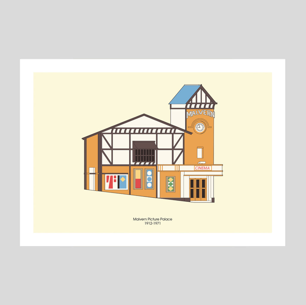 Malvern Picture Palace A3 Print | Adam Allsuch Boardman | Colours May Vary