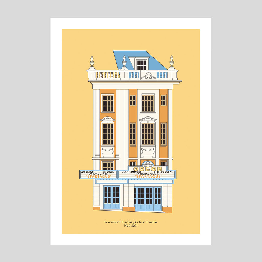 Paramount Theatre A3 Print | Adam Allsuch Boardman | Colours May Vary