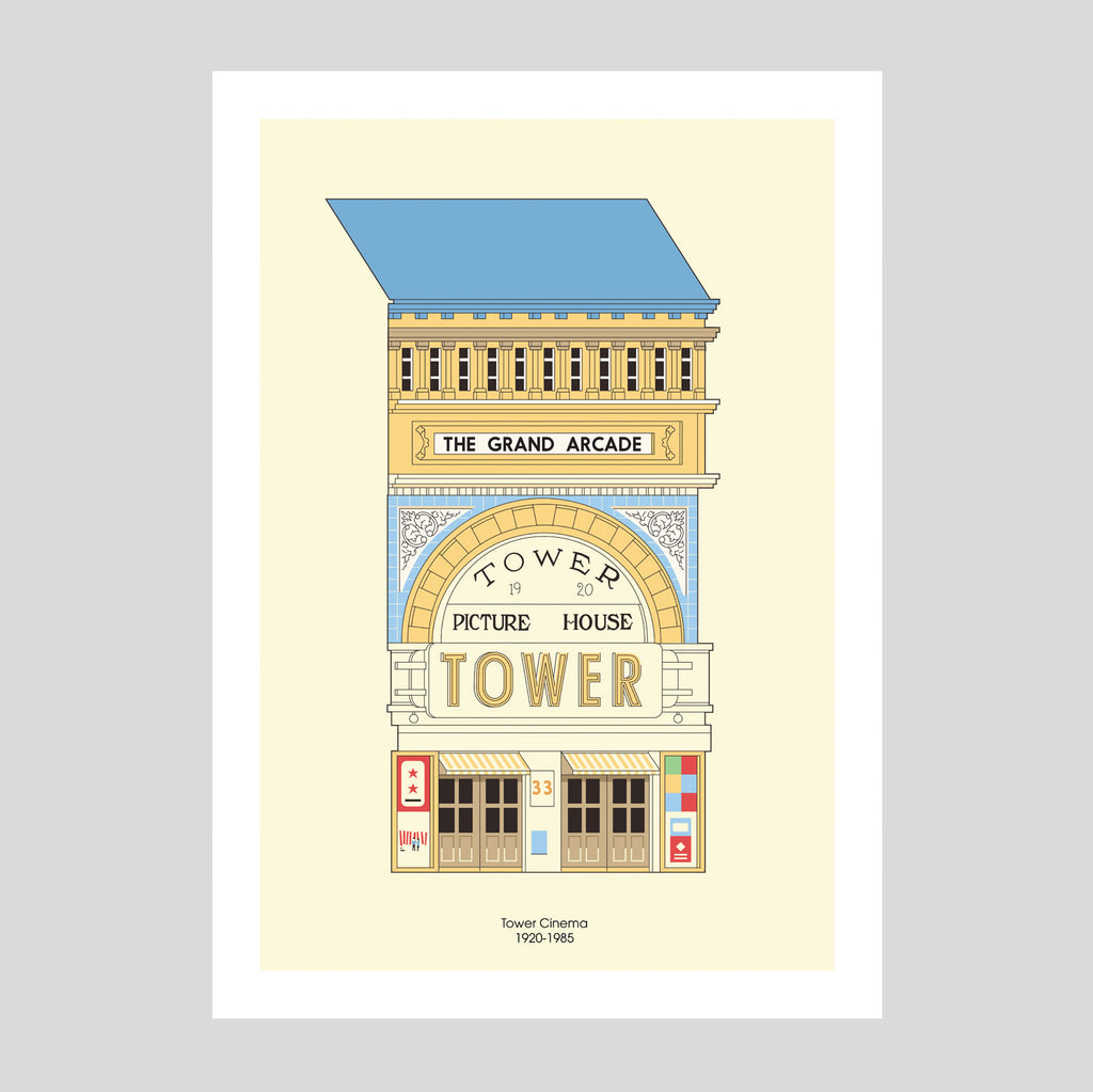 Tower Cinema A3 Print | Adam Allsuch Boardman