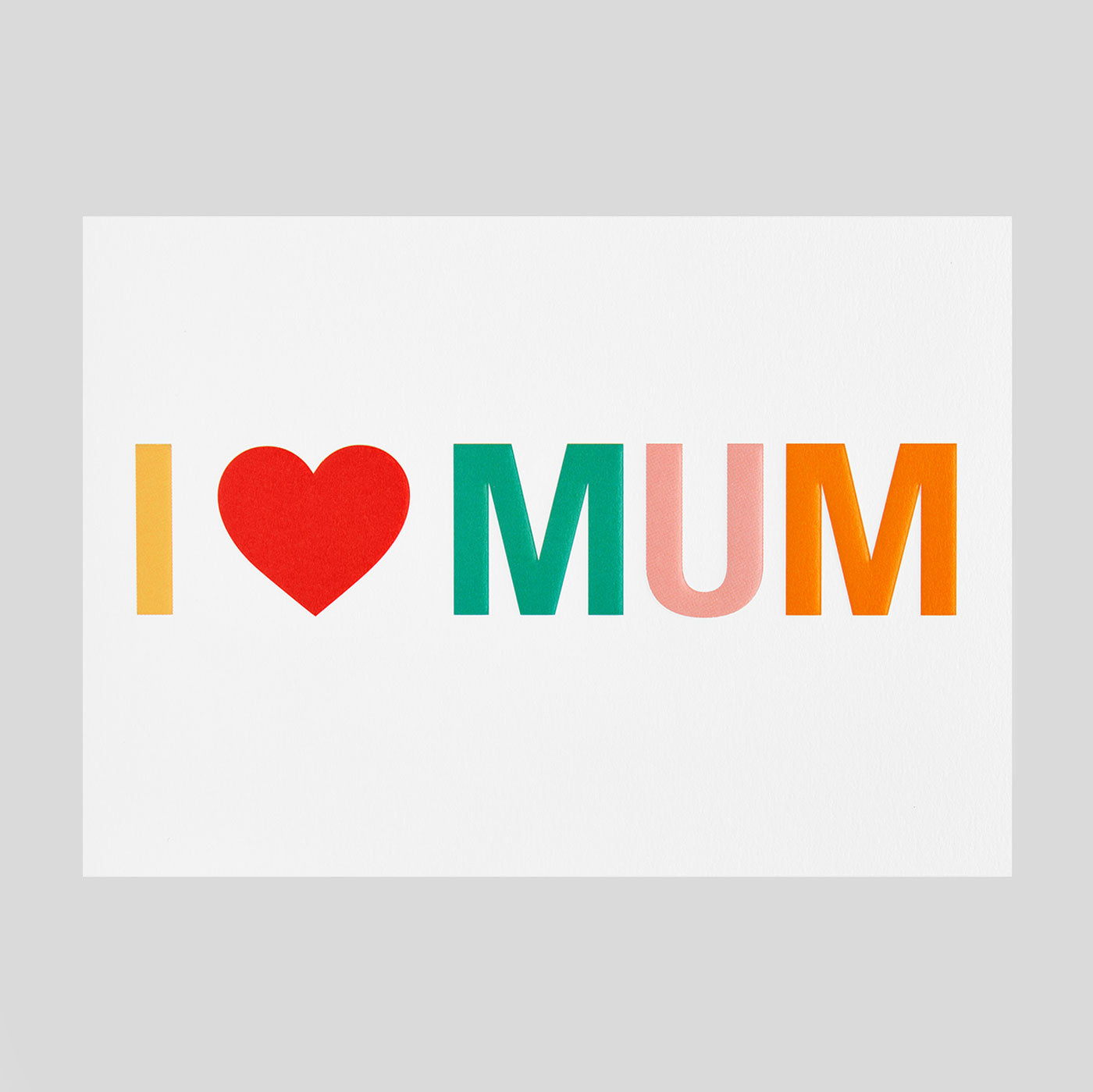 Postco for Lagom - I Love Mum Card