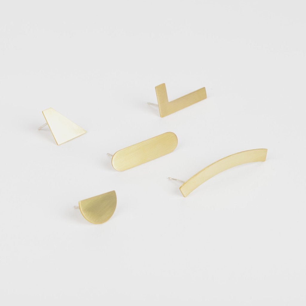 'Artefact' Mix Match Earring Set by Tom Pigeon