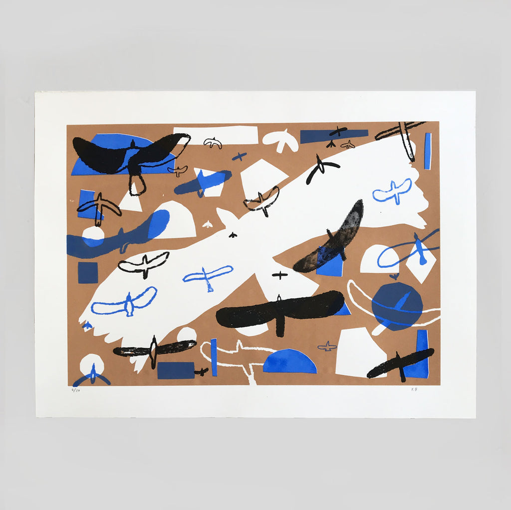 Kieran Blakey - Birds Screenprint