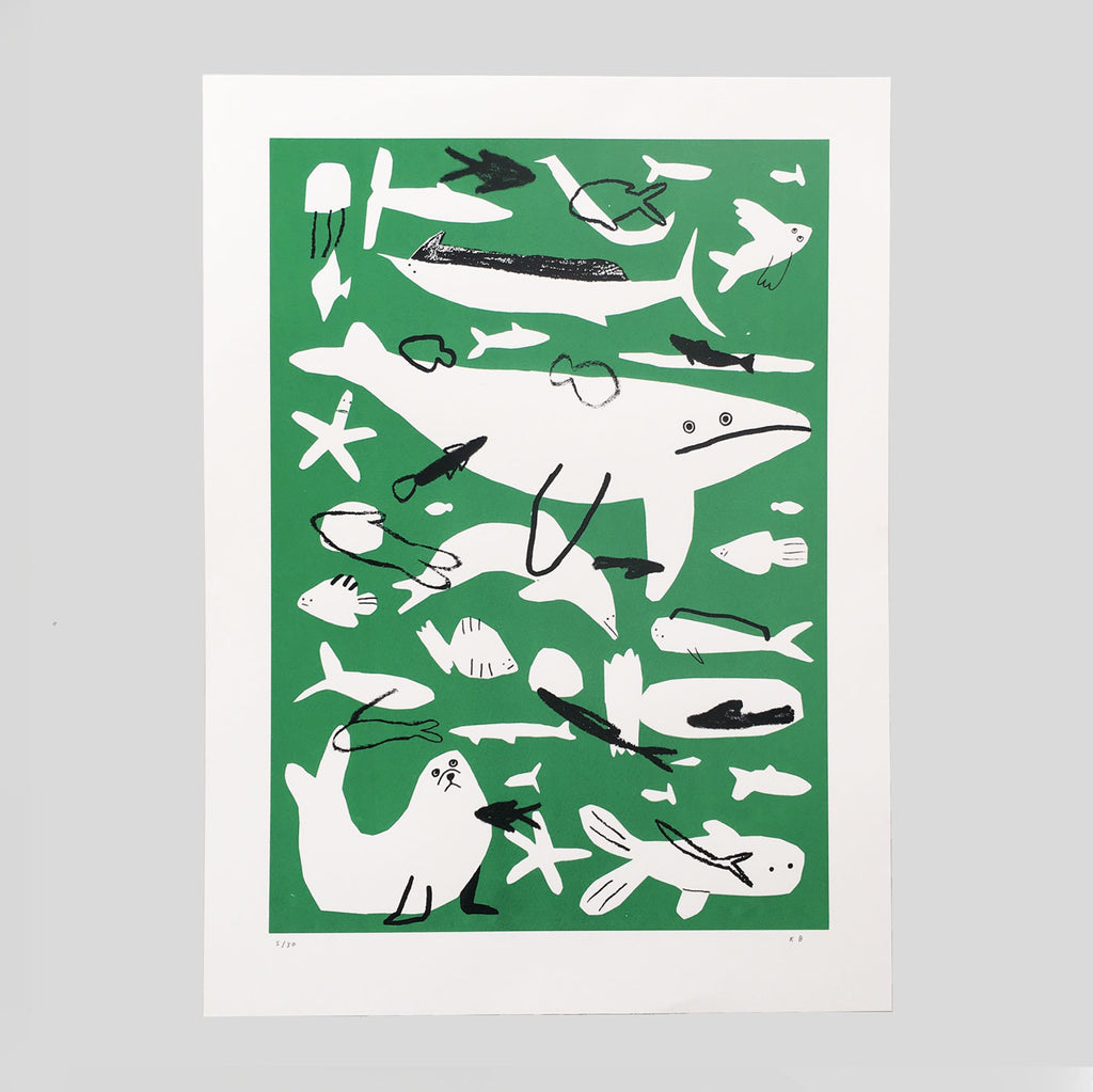 Kieran Blakey - Fish Screenprint