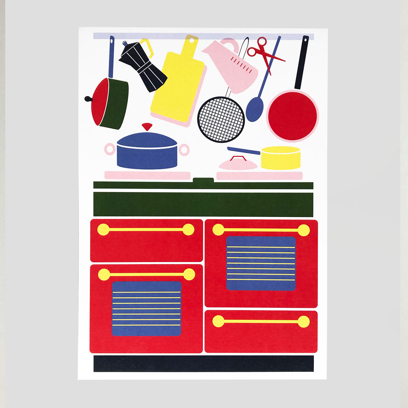 Lottie Hall | The Kitchen Print | Colours May Vary