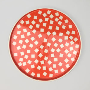 Sunken Studios Large Dish - Squares Orange