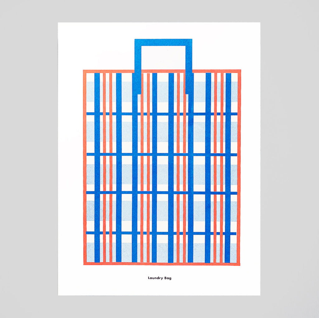 Laundry Bag A3 Print by Scout Editions - Colours May Vary