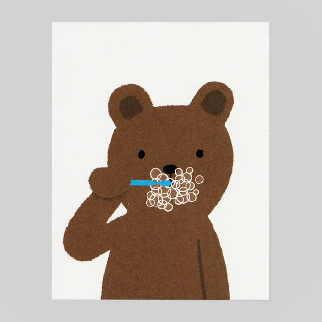 Brushing Bear by Lisa Jones Studio - Colours May Vary