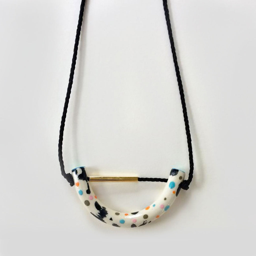 Aliyah Hussain Speckled U Necklace